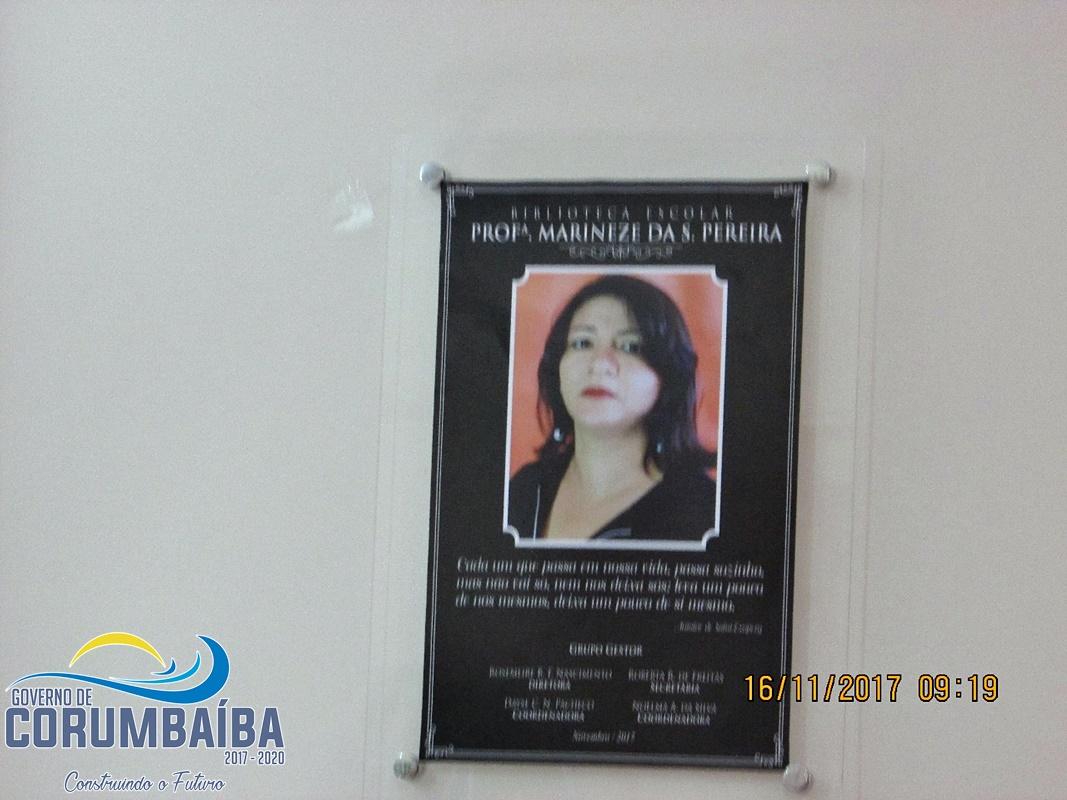 INAUGURAÇÃO DA BIBLIOTECA ESCOLAR PROFESSORA MARINEZE DA SILVA PEREIRA