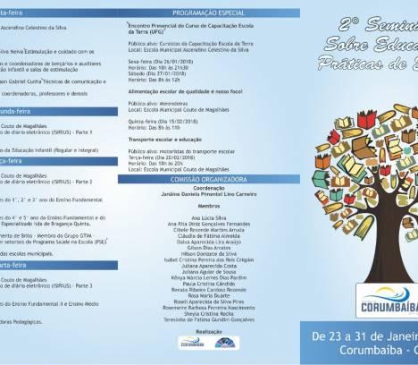 Convite para o 2º Seminário Sobre Educação e Práticas de Ensino
